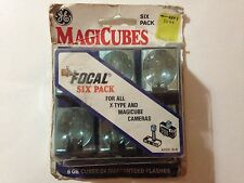 ** VINTAGE ** 6 PACK, X Type,  Magic cube flash bulbs, for magicube cameras