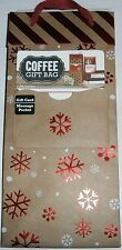 CHRISTMAS COFFEE GIFT BAG WITH GIFT CARD MESSAGE POCKET  Snowflakes