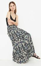 IRO AMITA FLORAL PRINTED VOILE RED MAXI SKIRT FR 38 UK 10