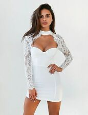 Tiger Mist Cassidy Lace Dress WHITE Small Wedding Cocktail Club Prom TIGERMIST