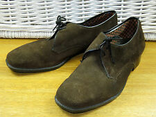Vintage Mens Size 9.5 Brown Suede Leather Lace Up Derby Shoes Cushy Numbers