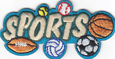 """SPORTS"" - FOOTBALL - BASEBALL - SOCCER - BASKETBALL - Iron On Embroidered Patch"