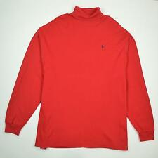 Polo Ralph Lauren Turtleneck Made In USA Long Sleeve Red Shirt Men's Size 2XL