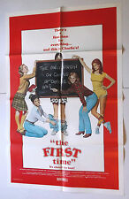 THE FIRST TIME vtg 1982 MOVIE POSTER SEXPLOITATION aka DOIN IT teen sex comedy