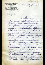 """PARIS (XVII°) USINE de Patés & Terrines RILLETTES """"L. PICHEREAU"""" en 1910"""
