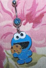 COOKIE MONSTER navel belly ring dangle