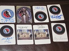 LOT OF 23 AUTOGRAPHED HOCKEY HALL OF FAME CARDS-NO DUPLICATES-ALL HOF