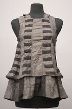 PRISA DESIGNS ARTSY CRINKLED SLEEVELESS HOODED TANK TOP VESTOVER Sz 0 $293