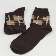 Winter Men Wool Blend Cross stripe Coffee Casual Dress Socks Sports SZ 10-13 m1
