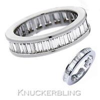2.00ct Baguette Cut F / VS1 Diamond 18ct White Gold Full Eternity / Wedding Ring