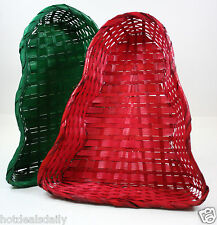 "2PC 9"" X 8"" 2"" DEEP WICKER BASKET CHRISTMAS TREES SET ARTS AND CRAFTS HOME DECOR"