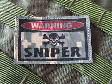 "Patch velcro ..:: WARNING SNIPER ::.. AIRSOFT PAINTBALL US "" ACU DIGITAL """