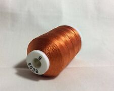 Size B Orange #5036 SILK THREAD-520 Yards Utica/Gudebrod Rod Wrapping NOS