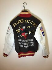 Free & Easy Rugged Museum Souvenir Vietnam Varsity Leather Jacket Sugar Cane 38