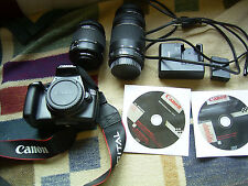 Canon EOS 1100D / EOS Rebel T3 12.2MP Digitalkamera - Schwarz (Kit mit EF-S...