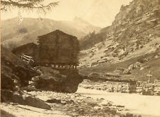 "MATTERHORN ""MONT CERVIN"" VISP VALLEY TO ZERMATT SWITZERLAND STEREOVIEW CABIN"