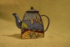 Mini enamel tea pot decoration