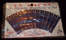 Vintage Silver Sword Hors D'Oeuvres Party Picks Appetizer 12 Pcs – New - NOS