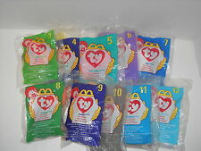 Ty Teenie Beanie Baby McD's 1998 incomplete set 3-12 : China Made : P.E. Pellets