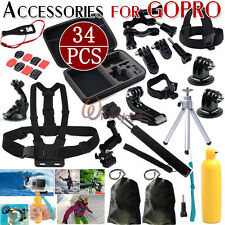 Pole Go pro Accessories Set Head Chest Monopod Mount for Gopro Hero 3+ 4 Session