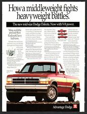 1991 DODGE Dakota Red Pickup Truck Photo AD