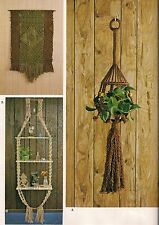 3 Tiered Hanging Shelf, Plant Hanger & More -Craft Book: #MM111 Macrame Artistry
