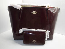 Coach Ava Chain Patent Leather Shoulder Bag Tote F57308 Phone Wallet F57314 NWT