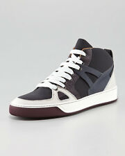 LANVIN MENS COLORBLOCK TEXTURED LACE-UP SNEAKERS SIZE US 12 EU 45 UK 11 BNIB