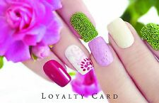 100 x Loyalty Cards  Beauty Salon  Manicure Nails & Storage Box & FREEPOST