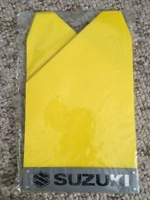 Suzuki Rally Yellow Mud Flaps Splash Guards x4