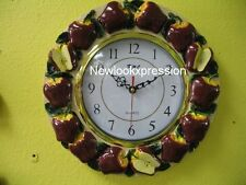 Wall clock RED APPLE Decor Kitchen Fruits home new bar set ref443