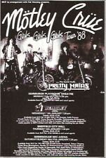 MOTLEY CRUE Girls Girls Girls Tour UK magazine ADVERT / mini Poster 5x4""