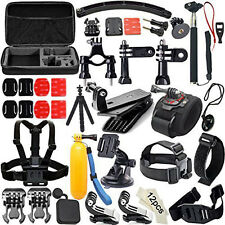 50 in1 Accessories Set Kit Bag Monopod Head Chest Strap for Gopro Hero4/3