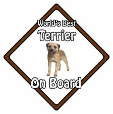 Non Personalised Dog On Board Car Safety Sign – World's Best Border Terrier