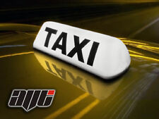 """14"""" WHITE LED MAGNETIC MOUNT TAXI ROOF SIGN -  TAXI METER TOP SIGN CAB LIGHT"""