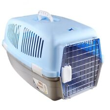 PLASTIC PET DOG CAT RABBIT CARRIER TRAVEL BASKET CRATE CARRY HANDLE DOOR