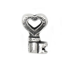 AUTHENTIC ZABLE STERLING SILVER KEY WITH HEART BEAD