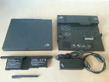 IBM Lenovo Thinkpad X41 Tablet Completo Dock Pen Wi-Fi Laptop Notebook Portatile
