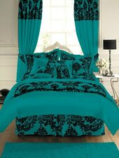 Royal Armask Damask Faux Silk Duvet Cover Quilt Bedding Set Microfibre Flocking
