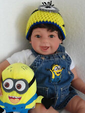 """Reborn Happy 22"""" Toddler Boy Doll """"Mylo and his Minion"""""""