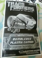 Transformers ROTF PLASMA CANNON BUMBLEBEE INSTRUCTION BOOKLET ONLY