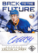 12-13 Limited Denis Potvin Calvin De Haan /25 Auto Back To The Future 2012