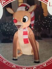 Rudolph the Red-Nosed Reindeer 5 Foot Lights Up! Inflatable NIB