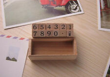 Wooden Rubber Number Stamp Kit - 12 pc Set Prices Wedding Stationery Card Stamps