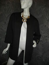 AMAZING NEW ' PRIMARK '  BLACK COATIGAN / JACKET LIGHTLY QUILTED FABRIC SIZE 10