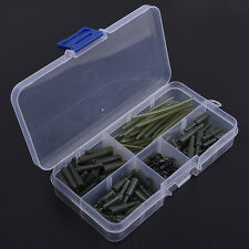 120 pcs Carp Fishing Accessories Tackle Anti Tangle Sleeves Safety Lead Clip