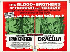"Horror Frankenstein / Scars of Dracula 16"" x 12"" Repro Film Poster Photograph"
