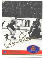 "1972 Team Canada Jean Ratelle Factory Authentic ""Fingerprint Swirl Autograph #66"