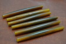 "50 PCS AMBER BUFFALO HORN TUBE HAIR PIPE CHOKER BEADS 4"" #BD-77"