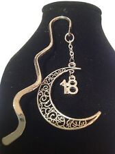 18th birthday.. filligree book mark silver plated